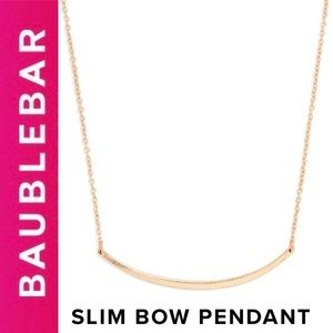 🆕 Original GOLD Slim Bow Pendant BaubleBar